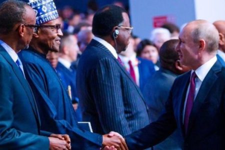 Seven tins Buhari and Putin agree for Russia-Africa summit at Sochi