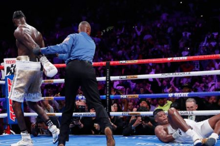 Deontay Wilder produces stunning KO finish to end Luis Ortiz's superb challenge and Career and set up Tyson Fury rematch