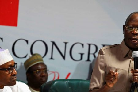 Ruling Party APC Civil War Breaksouts as Anti, Pro-Oshiomhole respective protesters in free-for-all at party secretariat