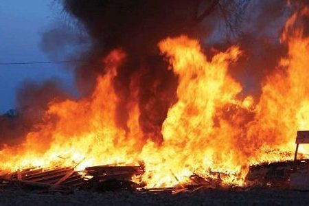 Asaba Main Timber Market goes up in Flames