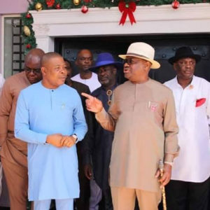 Rivers State Governor Nyesom Wike pays a Governorship Visit to the neighbouring Imo state Governor Emeka Ihedioha at the later's Country Retreat, Mbaise in an unlikely BROMANCE