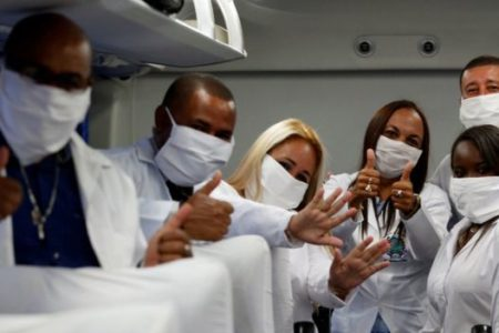 200 Cuban doctors go to South Africa to aid the fight against Coronavirus